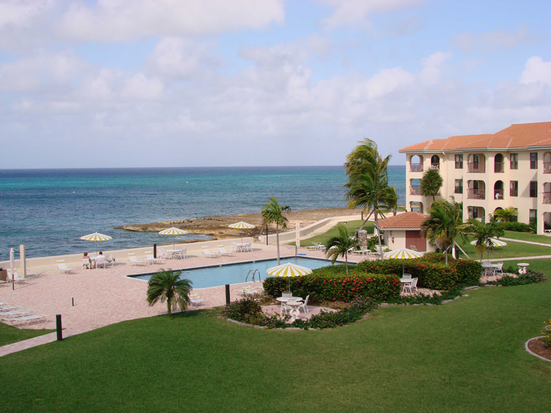 View of Georgetown Villa pool and beach