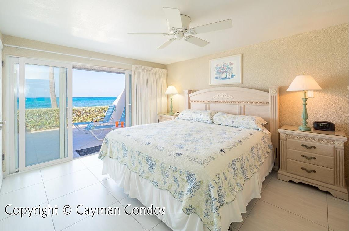 Oceanfront master bedroom with spectacular views