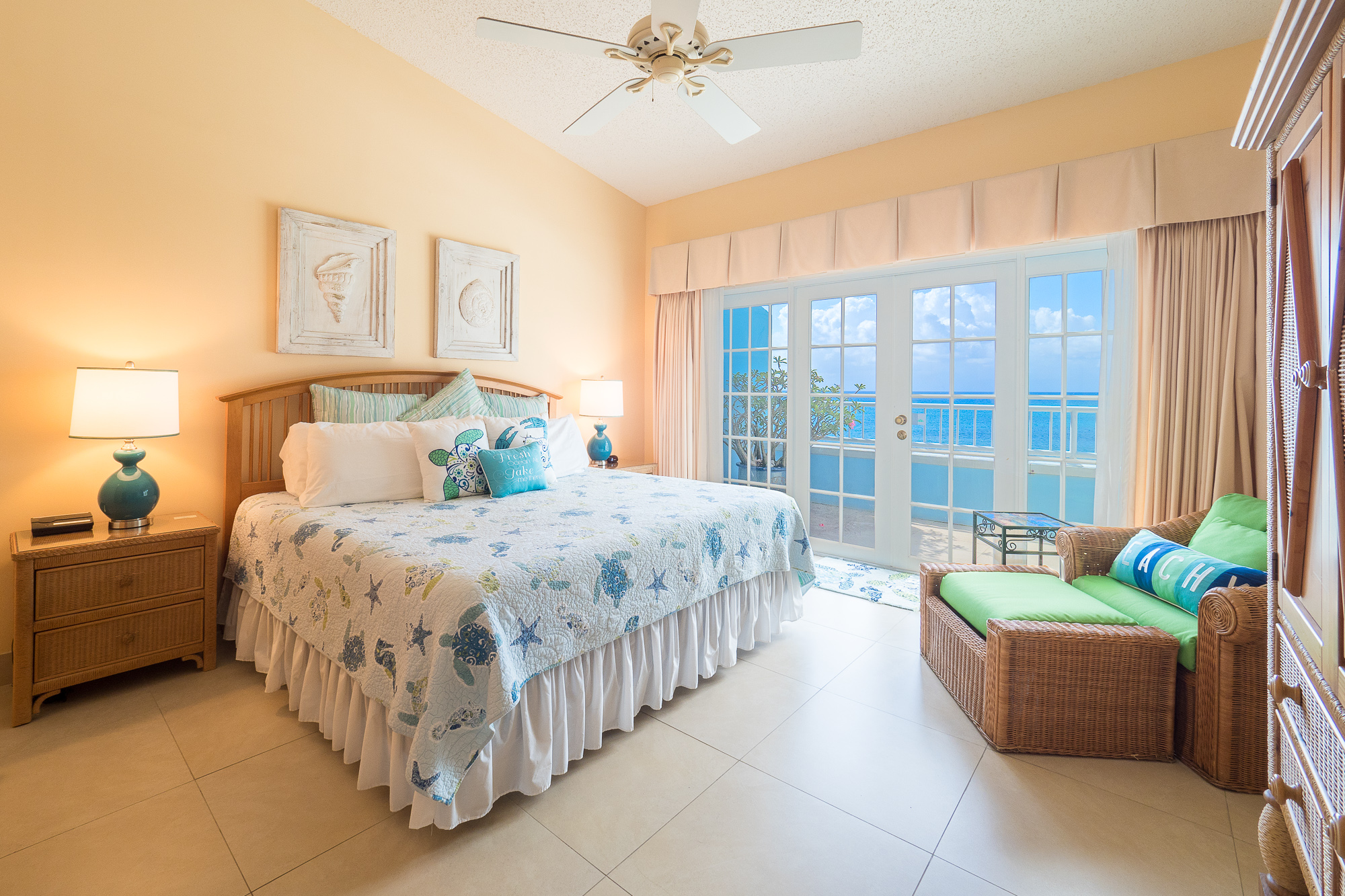 Master bedroom with grand views of the ocean